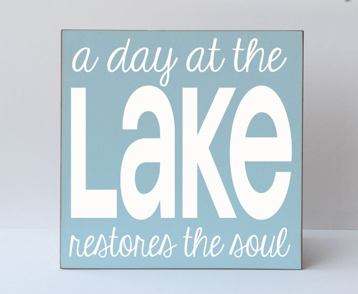 A Day At The Lake Wood Sign, Lake Sign, Beach Sign, Lake House Sign, Lake Home Decor, Art for Lake Decor, Art for Lake House, Lake House by vinylcrafts on Etsy https://www.etsy.com/listing/155763573/a-day-at-the-lake-wood-sign-lake-sign