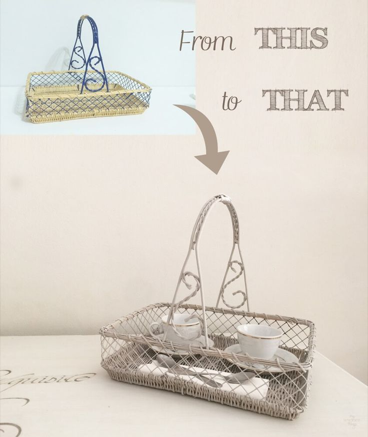Upcycle an old wicker basket using some chalk paint