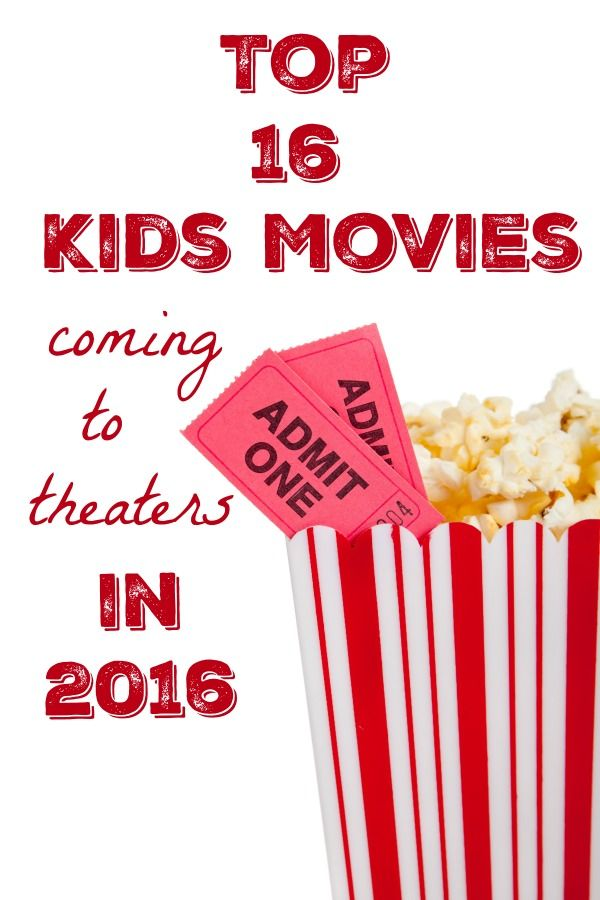 The BEST new kids movies coming to theaters for 2016!  Includes trailers and links to extra activities too