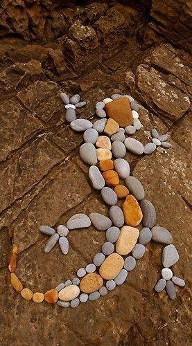 Land Art: Rock lizard