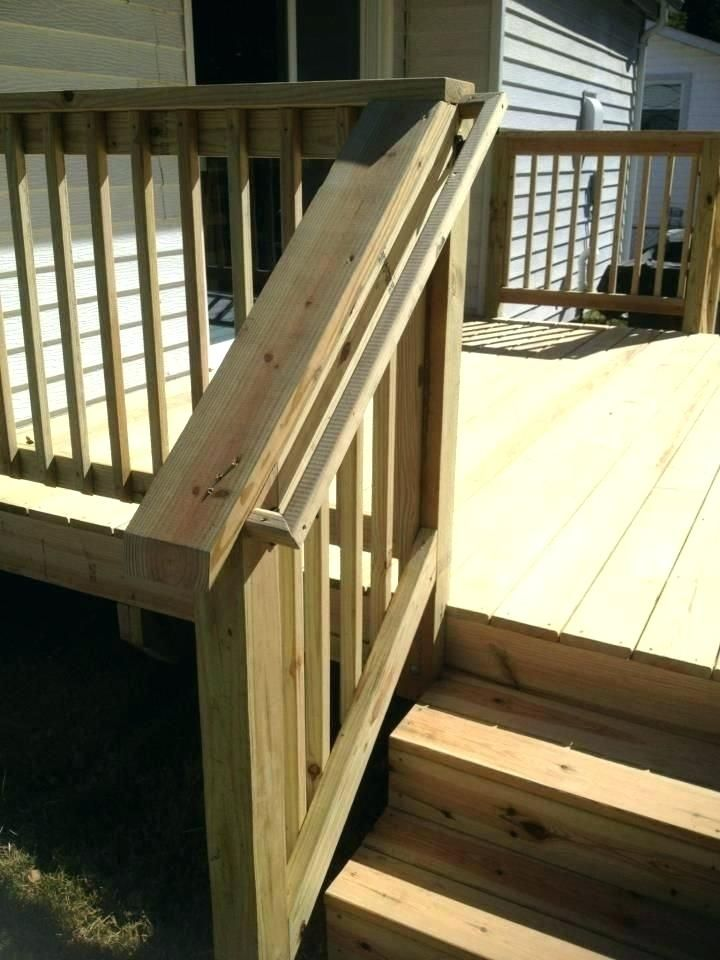Outside Stair Railing Porch Wood Handrails