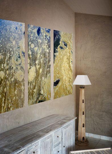 Photo sur Toile (sur châssis bois)  © PL  -Catégorie : Abstrait - Série : Les effets mer