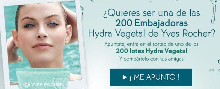 Regalan 200 lotes de productos Hydra Vegetal de Yves Rocher entre todas las personas que se inscriban. ¡Participa y prueba suerte!  http://www.baratuni.es/2014/03/muestras-gratis-de-crema-hydra-vegetal-yves-rocher.html  #cosmeticos #yvesrocher #hydravegetal #baratuni