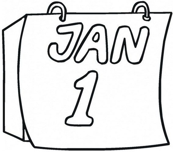 Daily Tear Off Wall Calendar 1st January Coloring Sheet New Year Coloring Pages Free Kids Coloring Pages Coloring Pages For Kids