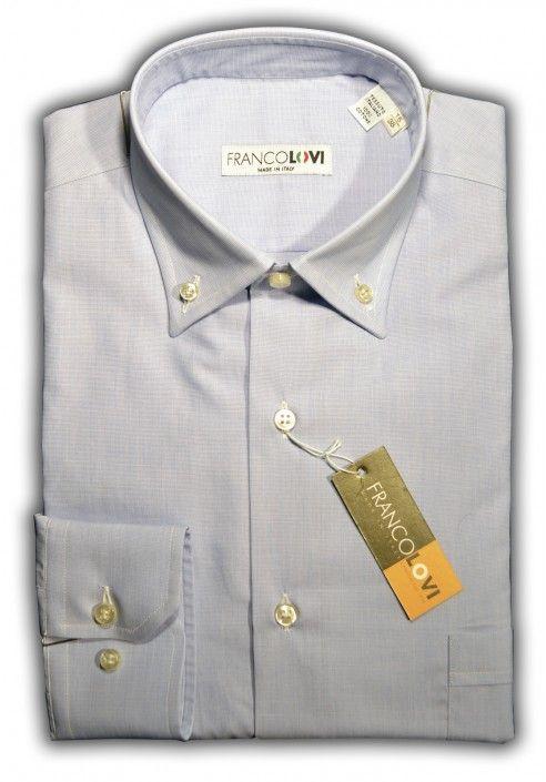 Camicia Uomo Botton Down Unito Celeste