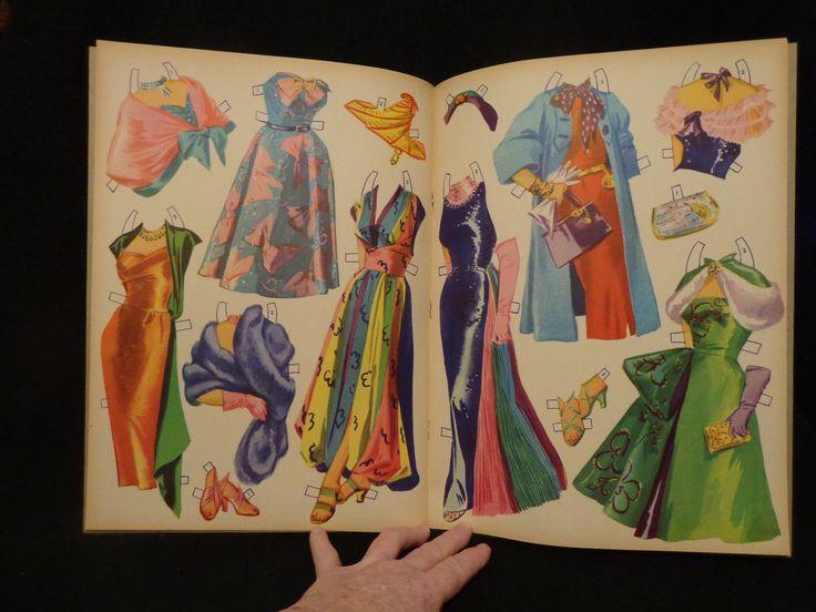 Vintage Piper Laurie Uncut Paper Dolls Look Thru Book Merrill 1953 Almost Mint | eBay