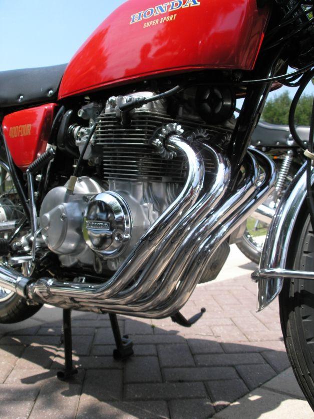 Honda CB400F Super Sport, one of the worlds best handling bikes.