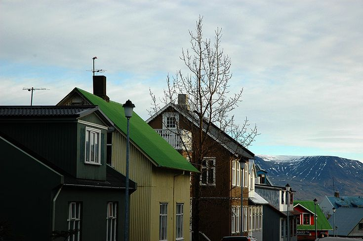 iceland architecture - Corregated Metal