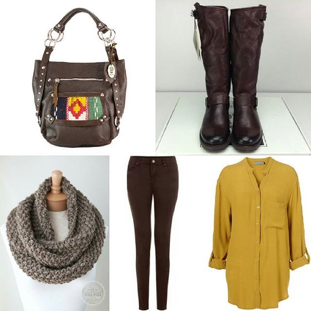 #make your #fall #look #complete with the BonesArtisan Deana  https://www.etsy.com/nl/listing/472940207/deana-volnerf-lederen-tote-hobo-tas-met  #lush #fullgrain #leather #bag, #warmcolors #fallcolors #oversized #scarf #skinny #jeans #yellow #blouse #brown #boots #fashionista #fashion #etsy #etsyfinds