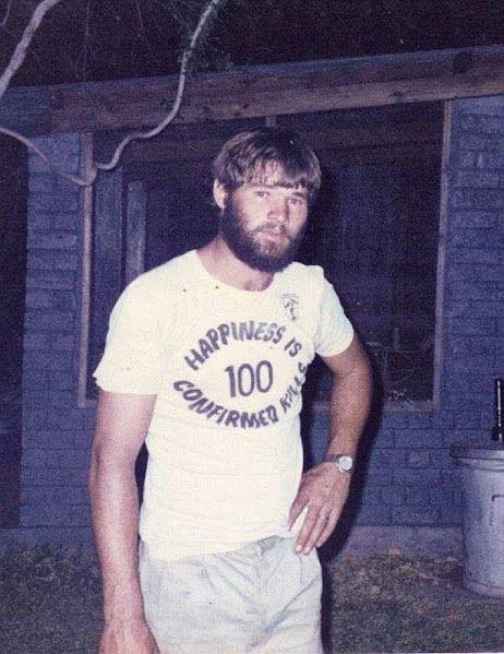 -Happiness Is 100 Confirmed Kills ! This former Koevoet Member , Tekkies la Roux ,had his first 100 in 1982 or 1983 !