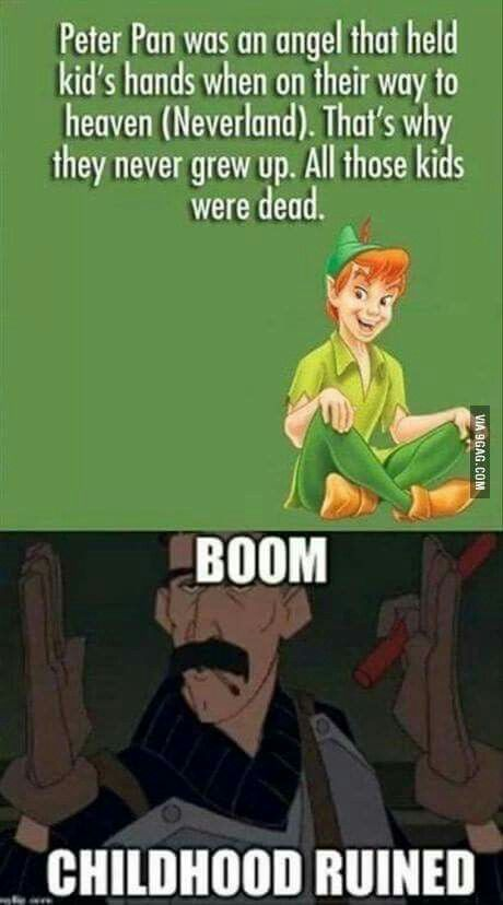 But what about how peter killed the lost boys as they got too old.-------- Oh shit just got real