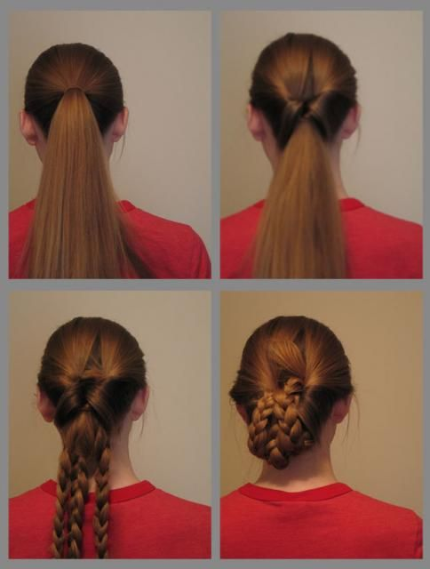 69 best victorian 1837 1901 images on pinterest victorian step make a pony tail step pull pony tail up and through the center step make three braids with the loose hair step tuck in and bobby pin the braids into ccuart Image collections