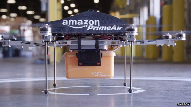 BBC News - Amazon testing drones for deliveries