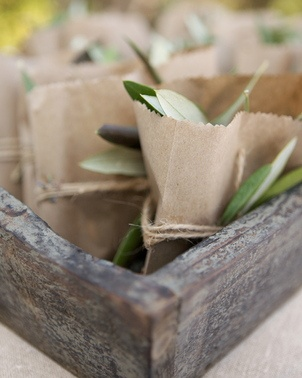 Toss olive leaves for a Mediterranean feel