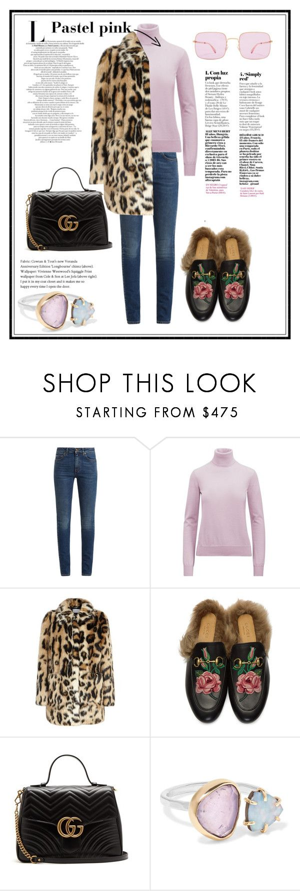 """Pastel pink"" by simonautiero ❤ liked on Polyvore featuring Yves Saint Laurent, Ralph Lauren Collection, Stand, Gucci, Mykita, Melissa Joy Manning, modern and vintage"