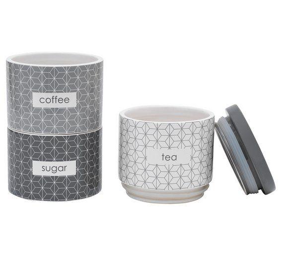 Buy Collection Geo Stacking Storage Jars At Argoscouk