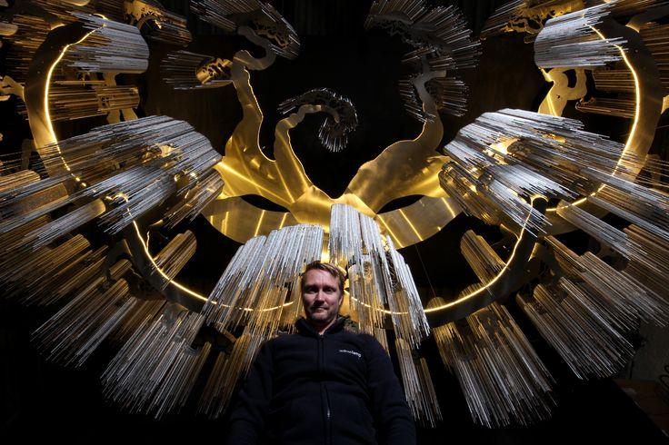 #willowlamp #bespokelighting #AdamHoets #custom #FarawayTree #large #chandelier