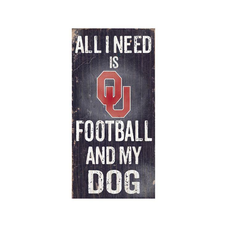 Oklahoma Sooners Football & My Dog Sign, Multicolor