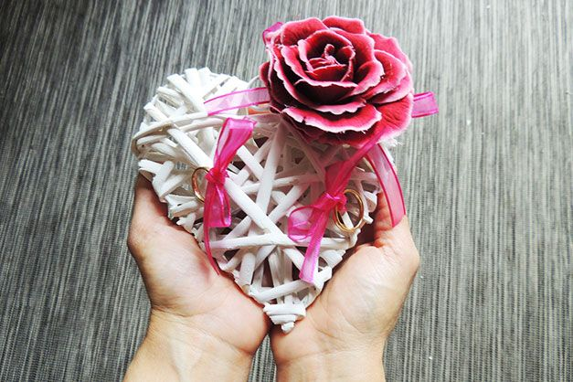 Matrimonio.it | #Cuscino porta #fedi per #matrimonio #faidate originale e semplice #tutorial #handmade #diy
