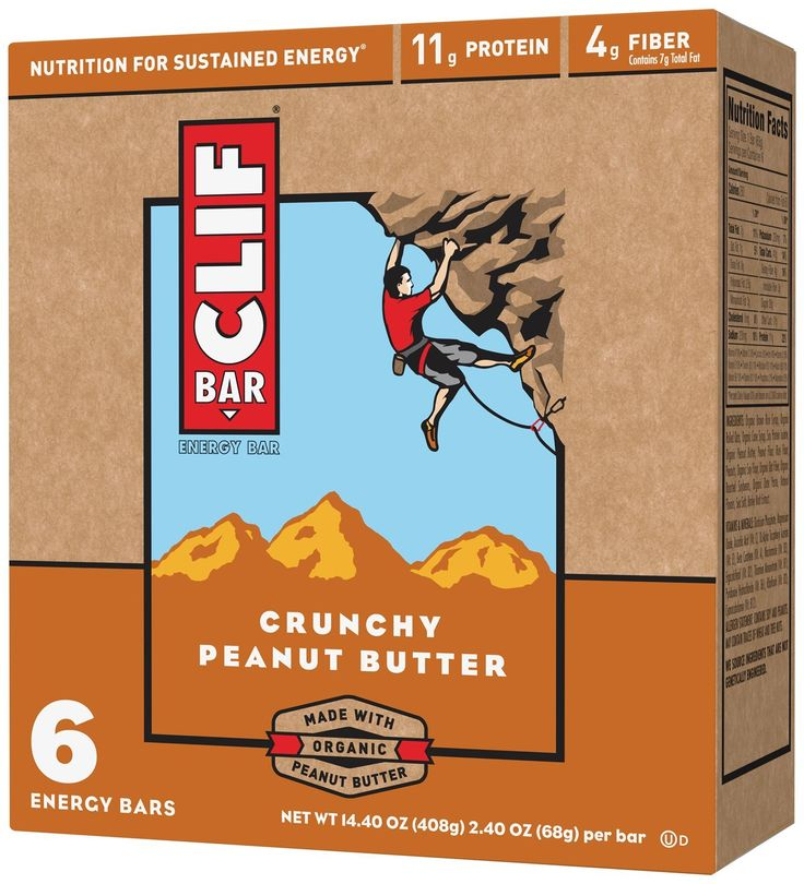 CLIF ENERGY BAR - Crunchy Peanut Butter - (2.4 oz, 6 Count) > Amazing product just a click away at : Prime Pantry