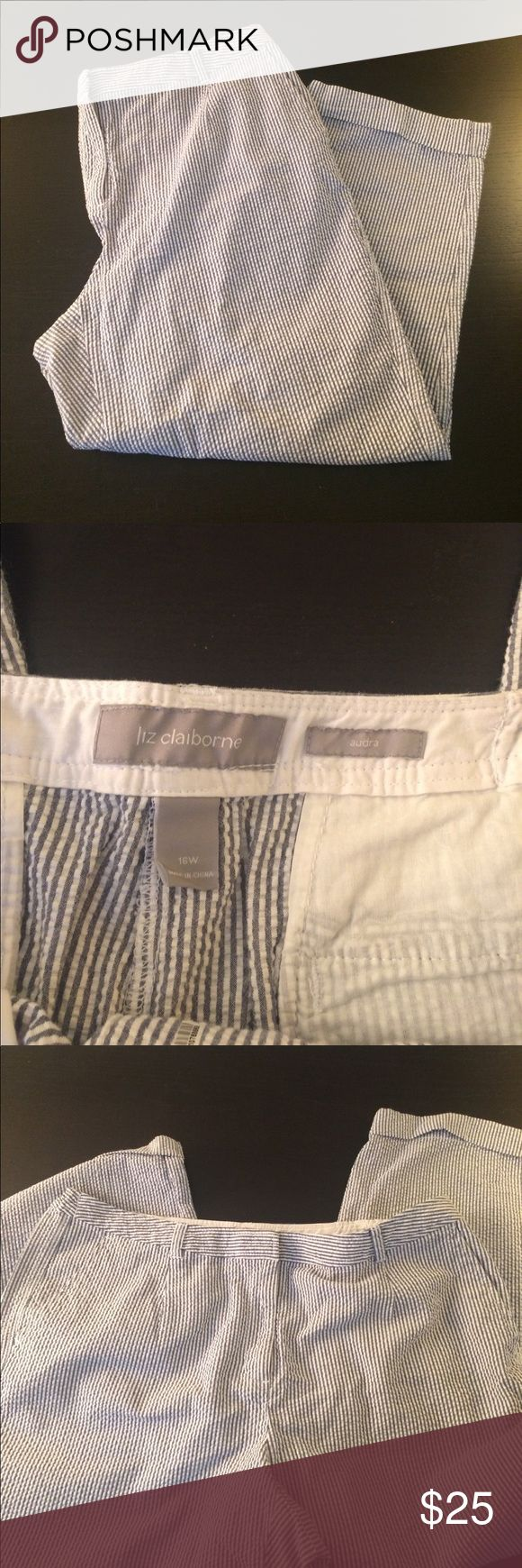 Liz Claiborne Seersucker pants Soft and light seersucker pants from Liz Claiborne Liz Claiborne Pants Trousers