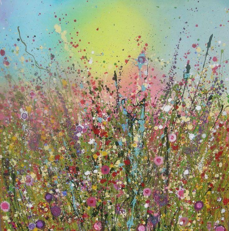 Flowerscapes wild flower painting paintings of wildflowersuk flower artist yvonne coomber flowerart