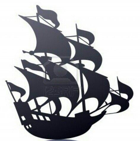 pirate ship sail template - old sailing pirate ship template stencil mural