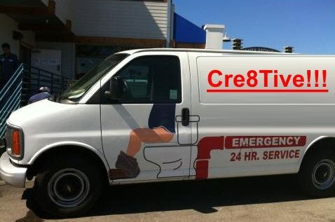 This is way too funny!  What do you guys think??  Good truck design for plumbers