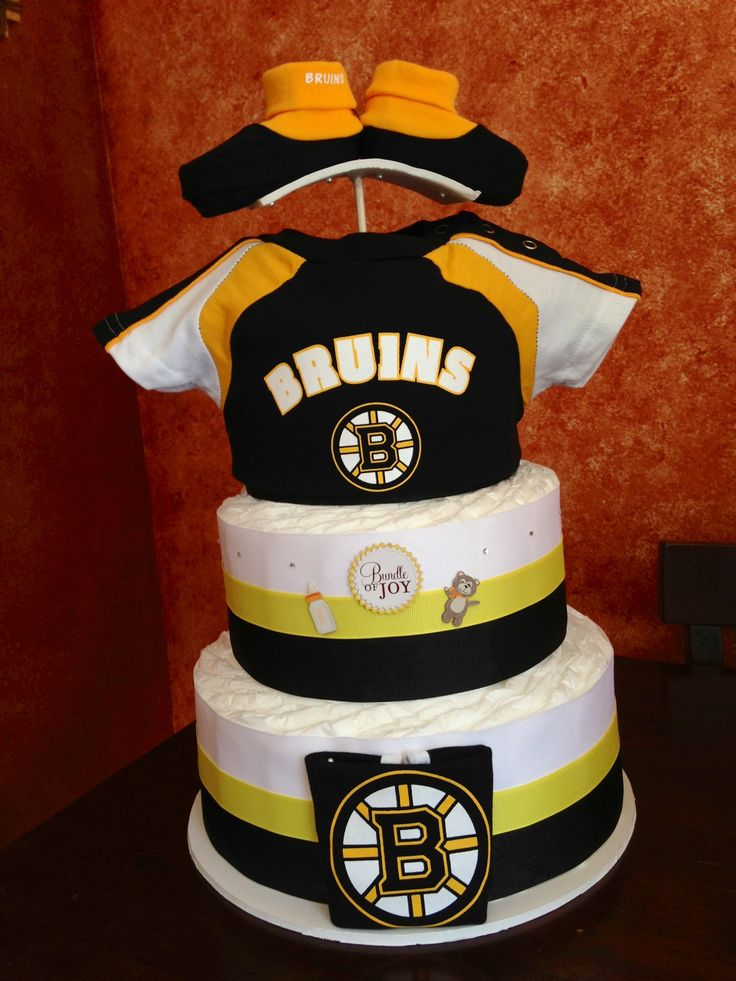 Bruins Diaper Cake Boston Bruins Pinterest To Be