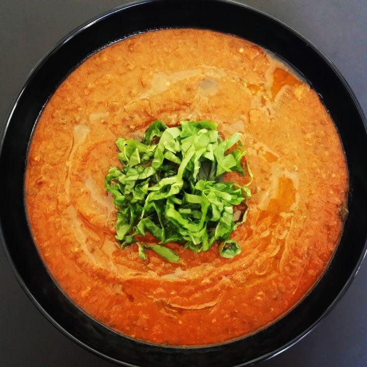 bhodi khaya roasted tomato   aubergine soup