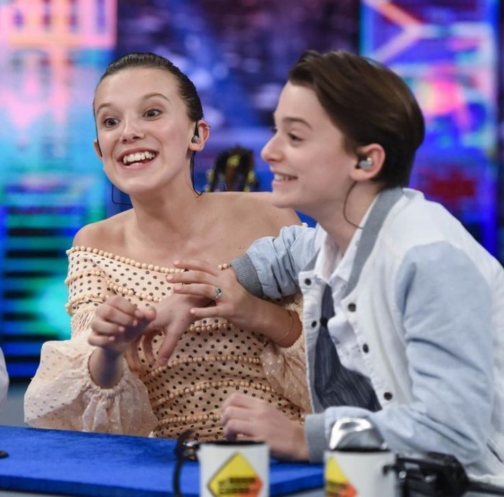 Millie Bobby Brown and Noah Schnapp