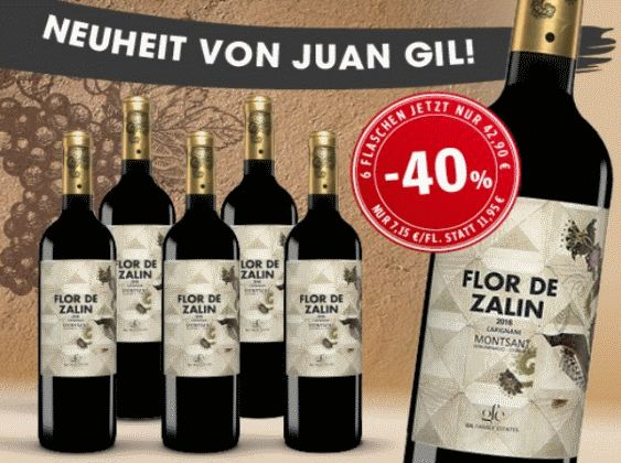 Flor de Zalin 2016 6 Flaschen für nur 42,90€ statt 71,70€ mit -40% Aus der Geheim-Tipp-Region Montsant!   Lassen Sie sich diesen Wein nicht entgehen und greifen Sie jetzt mit 40% Preisvorteil zu. Sie erhalten 6 Flaschen Flor de Zalin 2016 für nur 42,90 € statt 71,70 €.   #aktuelles Wein Angebot #Cariñena #D.O. Montsant #Flor de Zalin 2016 #Garnacha #Juan Gil #Rotwein #Rotwein Angebote #Spanien #Wein kaufen