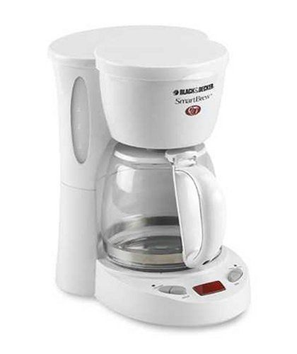 Black & Decker DCM575 5-Cup Programmable Coffeemaker, White