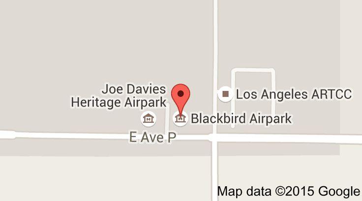 Map of Blackbird Airpark