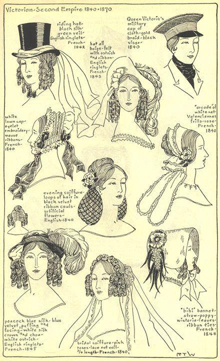 Gli Arcani Supremi (Vox clamantis in deserto - Gothian): Pettinature, acconciature e cappelli in Età Vittor...