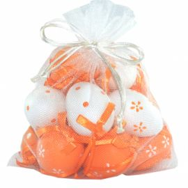 Set 12 oua decorative cu snur pentru Paste