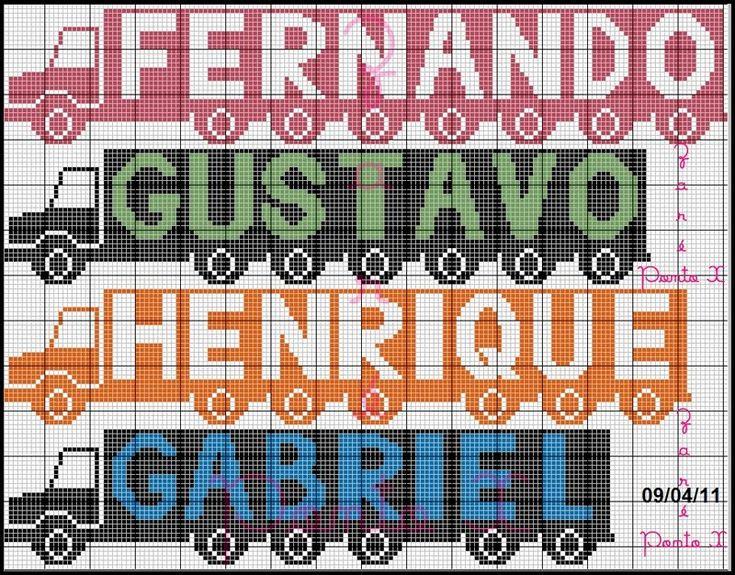 Luciane ponto cruz: graficos nome GABRIEL E MIGUEL