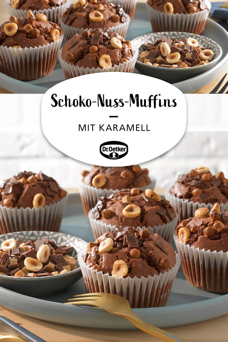 Schoko-Nuss-Muffins mit Karamell