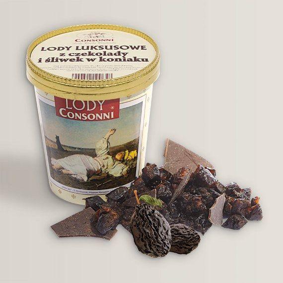 Lody luksusowe z czekolady i śliwek w koniaku  Czekolada kusi, wprowadza nutkę słodkości w nasze życie, jest bogata w cenne elementy, jak magnez, żelazo i endorfinę – substancję pobudzającą wydzielanie hormonu szczęścia; wszystko to prawda, ale tylko gdy rozkoszujemy się prawdziwą czekoladą powstałą z miazgi kakaowej o wartości 70% i więcej. Najlepsza czekolada pochodzi z Belgii, gdzie mistrzowie obróbki ziaren kakaowca potrafią  wyczarować szlachetne czekolady. .