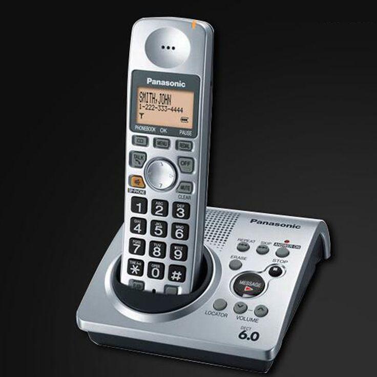 1.9 GHz DECT 6.0 KX-TG1031S Teléfono Teléfono Inalámbrico Con Contestador automático Digital de IDENTIFICACIÓN de Llamadas de Voz Mail Telefono Inalambrico