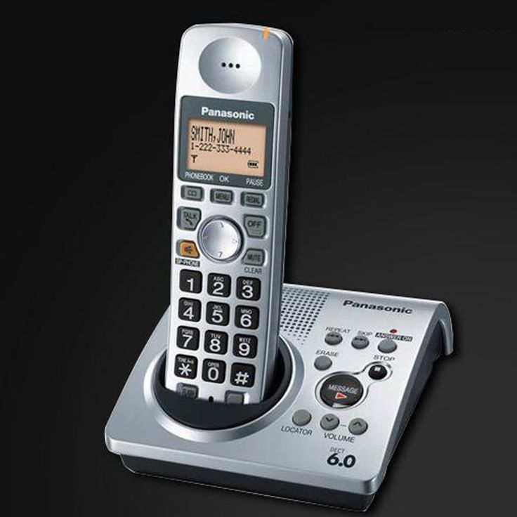 1 Handset KX-TG1031S Digital Telephone 1.9 GHz DECT 6.0 Cordless Telephone With Answering System Telefono Inalambrico For Home