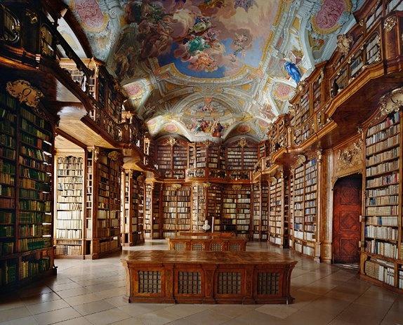 오스트리아 성 플로리안 수도원 도서관