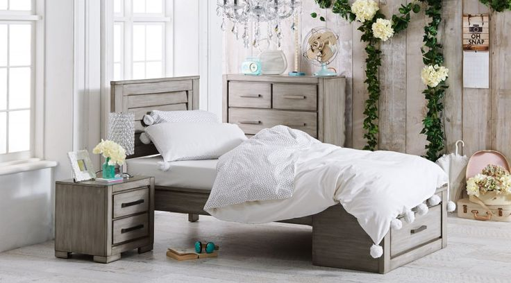 For those wishing to refresh their child's bedroom with a fresh and contemporary design, look no further than the 'Blaise'. Featuring a unique shutter-look bed head and handy storage drawer at the foot, this gender-neutral piece has a timeless and sophisticated appeal. Learn more: http://j.mp/1ws3b6Z