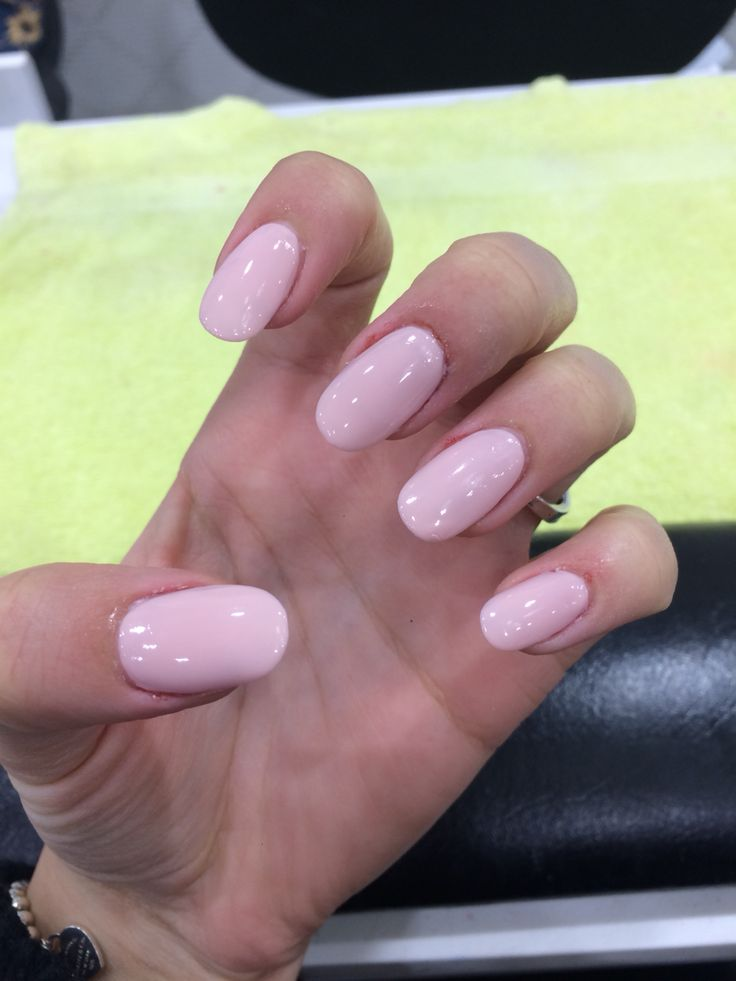 Just got my nails done! Acrylics again :D colour: OPI Sweetheart <3