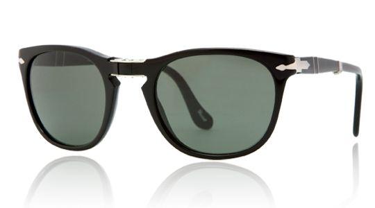 Persol for man po3028s  - 95\/31 (BLACK\/crystal green), Designer Sunglasses Caliber 52