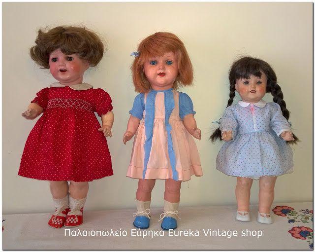 3 νοσταλγικές κούκλες από τις δεκαετίες 1930's έως 1950's
