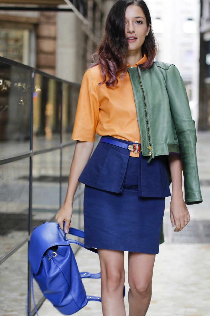 Eleonora Carisi, international blogger among the most appreciated it girls of Grazia, is wearing a SS13 capsule Collection Aiguille Noire by CO TE total look photographed by Elena Braghieri