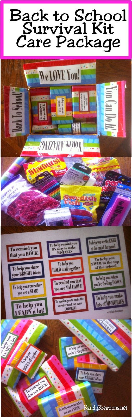 Pics photos funny college survival kit ideas - Celebrate Your College Freshman S First Day Of School With A Care Package From Home This