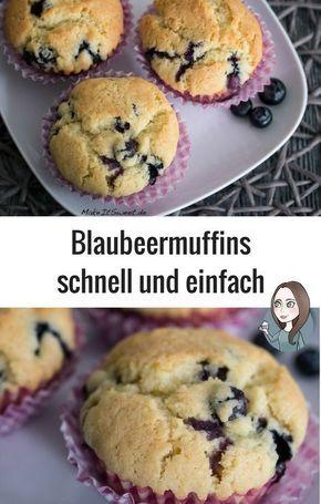 Einfache Blaubeermuffins – Bäckerei