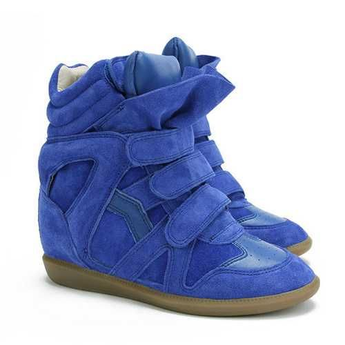 Isabel Marant Sale - Isabel Marant Bekett High-top Sneakers Blue Electric